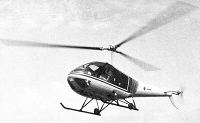 Enstrom turbocharged helicopter