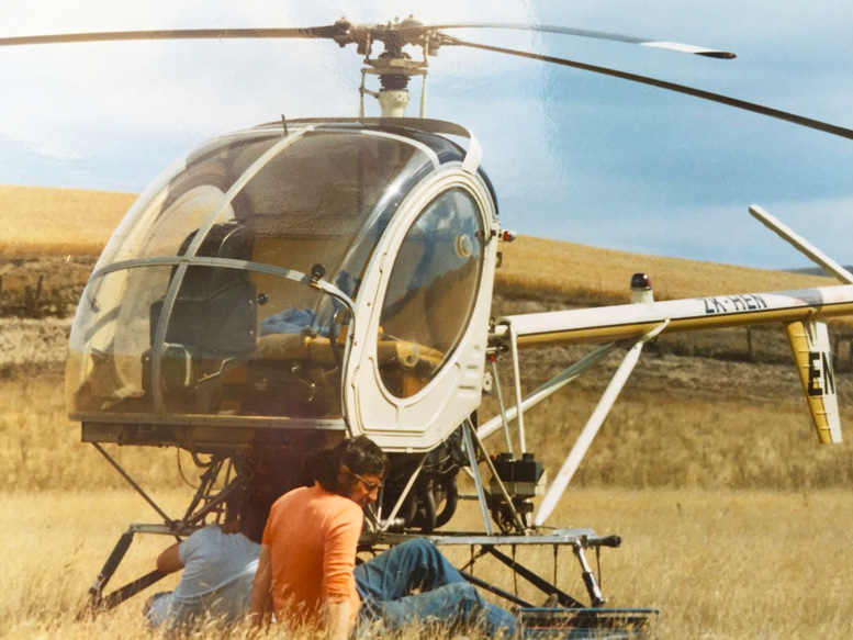 Hughes 300C two seat helicopter