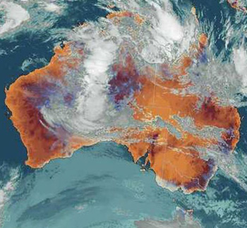 australia weather satellite image