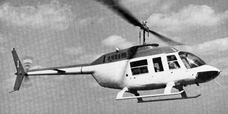 bell-long ranger helicopter flying