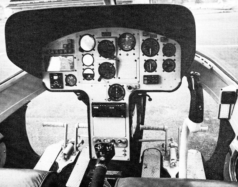 early bell jetranger 2 instrument panel