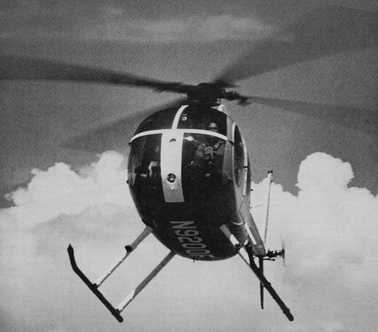 hughes 500 turbine five seat helicopter