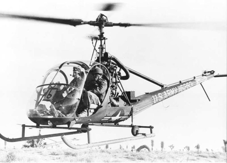 military hiller training helicopter