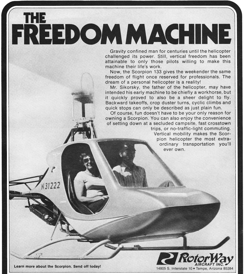 rotorway scorpion 133 BJ Schramm advertising