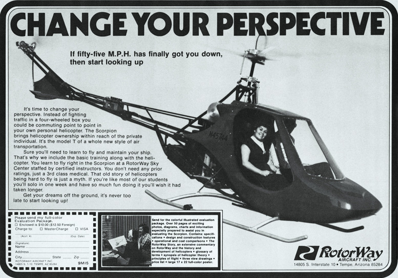 rotorway scorpion two kit helicopter advertising