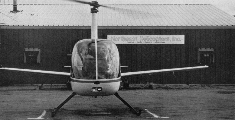 winged mooney r22 helicopter