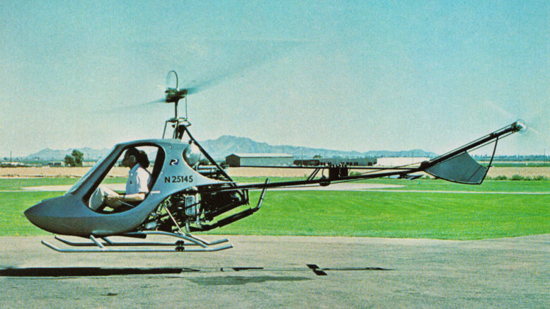 Helicopter pioneer B. J. Schramm RW133 Scorpion Too kit helicopter