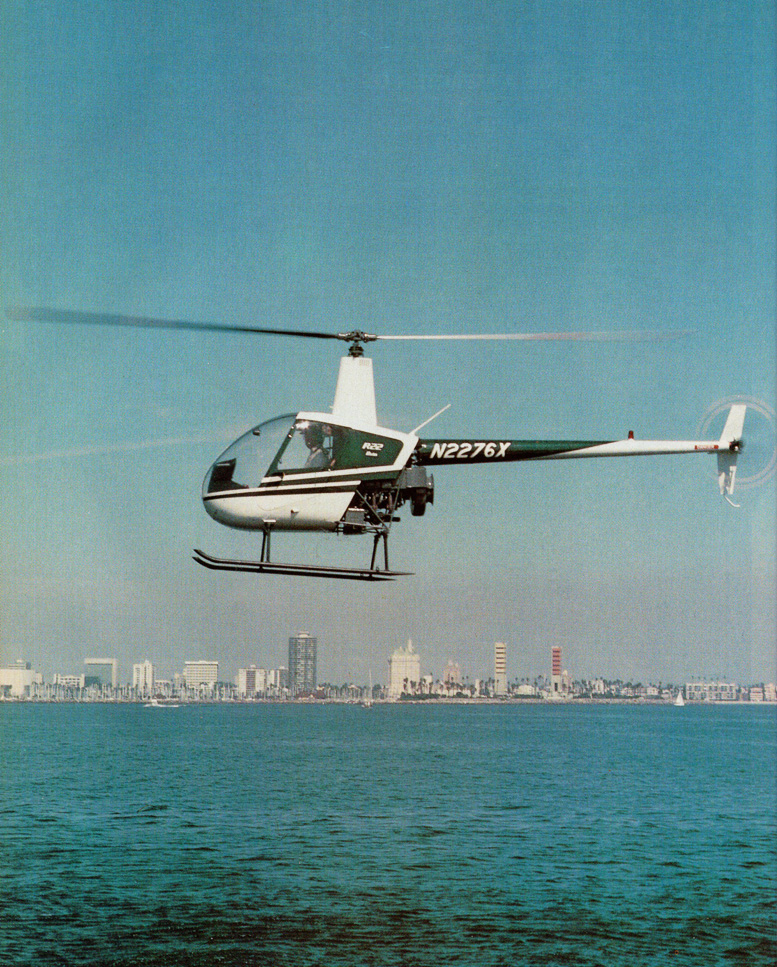 Robinson piston helicopter