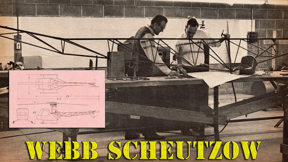 Webb Scheutzow Two Place Helicopter