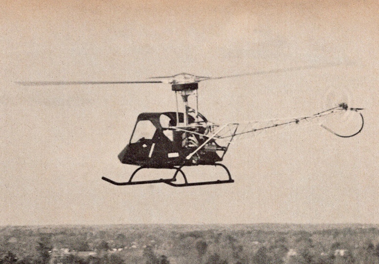 test flying prototype helicopter