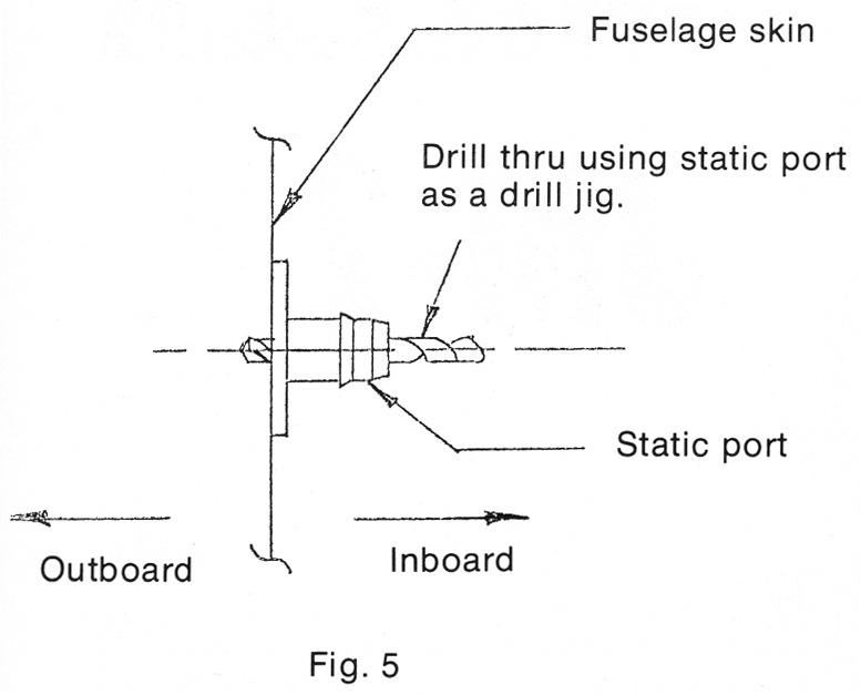 installing pitot tube