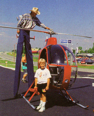 stiltman helicopter display