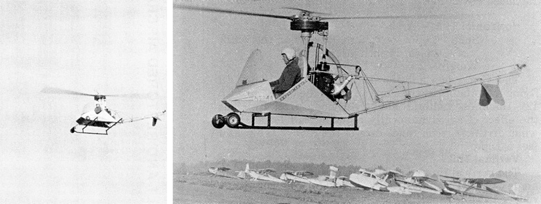 test flying experimental bee helicopter