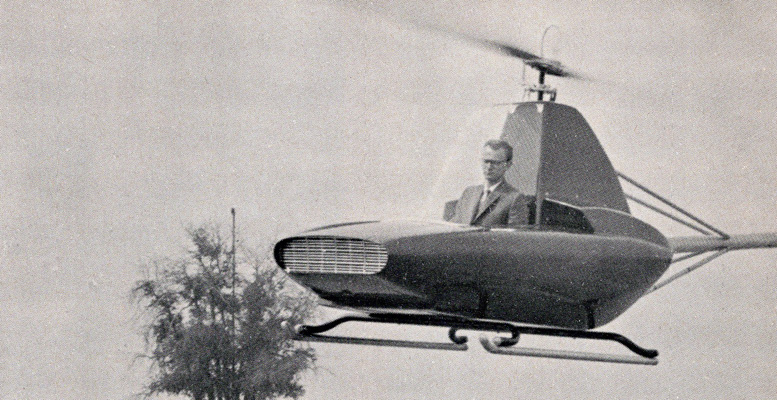 Schramm flys his Javelin helicopter design