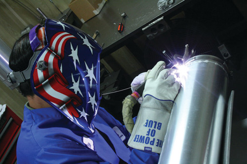 tig welding stainless steel tank
