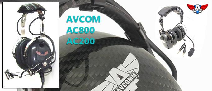Avcom ac800 ac200 pilot headset review