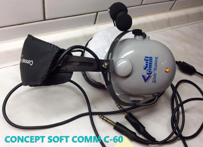 concept soft comm c-60 pilot headset