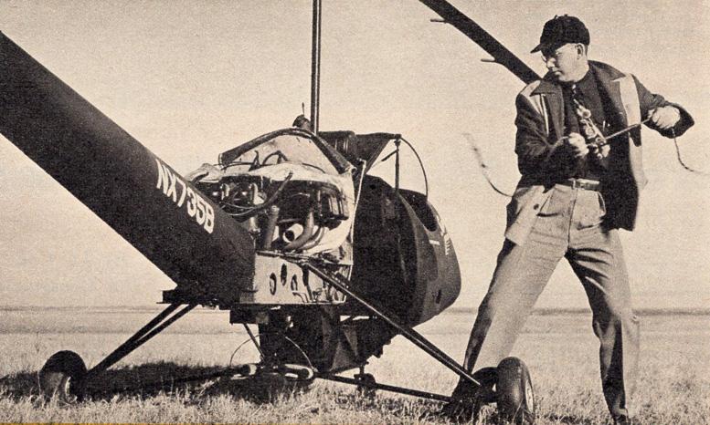 starting diy helicopter engine