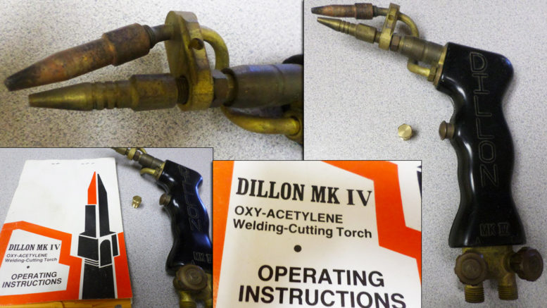 Dillon mark 4 gas welding torch