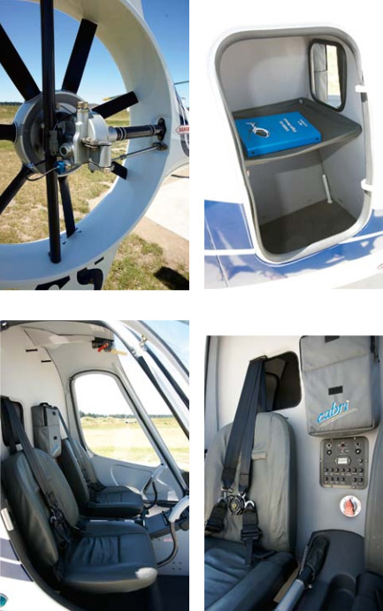 moden two seat helicopter
