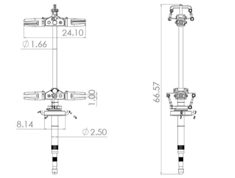 coaxial helicopter rotor mast
