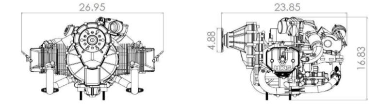 four stroke hks helicopter engine