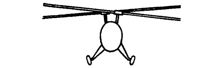 inter meshing helicopter rotorblades
