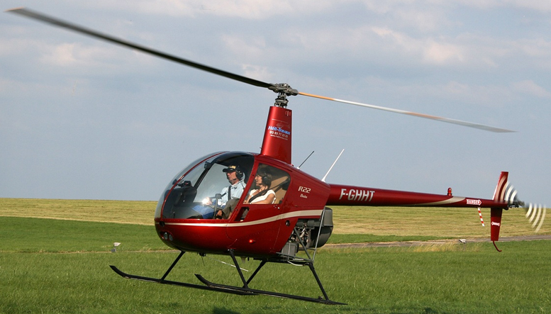 Robinson R22 helicopter flare