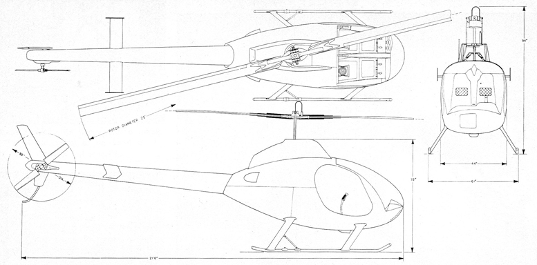 helicopter line drawing