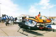 <h5>Don Hillberg SkyShark & RotorMouse helicopters</h5><p>Don Hillberg's SkyShark Helicopter (LEFT) and RotorMouse Helicopter (RIGHT). Photo credit Don Hillberg at http://www.airport-data.com/aircraft/photo/000356403.html</p>