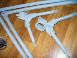 <h5>Aerokopter AK-1 helicopter frame parts</h5>