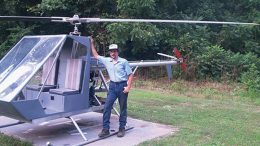 Timothy with his TH-135 Dusty II Experimental Helicopter