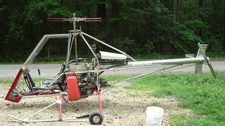DIY plans built SkyTwister helicopter