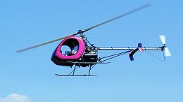HRH helicopter flying