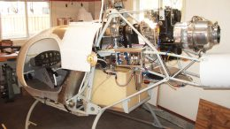Turbine in Rotorway Exec 90 kit helicopter