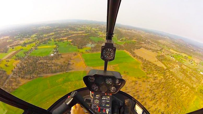 cross country flying helicopter
