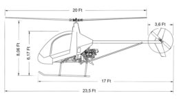 Cicare CH 7B blueprint drawing