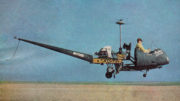 man builds helicopter from truck parts